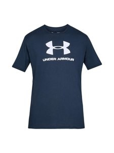 Under Armour - Sportstyle Logo -paita - 408 ACADEMY / / WHITE | Stockmann