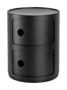 Kartell - Componibili-säilytyslokerikko 2 ovella - MAT BLACK 09 | Stockmann