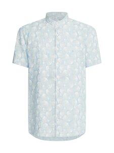 Calvin Klein Menswear - Linen Print S/S Slim Shirt -pellavakauluspaita - 0GY LIGHT BLUE | Stockmann