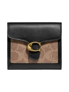 Coach - Tabby Small Wallet in Colorblock Signature Canvas -lompakko - B4/TAN BLACK | Stockmann