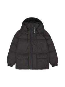 Calvin Klein Jeans - BLOCKING HOODED SHORT PUFFER -toppatakki - BEH CK BLACK | Stockmann