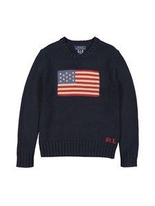 Polo Ralph Lauren - Combed Cotton Flag -puuvillaneule - HUNTER NAVY   Stockmann