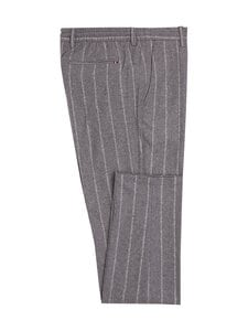 Tommy Hilfiger Tailored - TH Flex Vertical Stripe Drawstring Trousers -villakangashousut - 0CT ASH MELANGE/ECRU | Stockmann