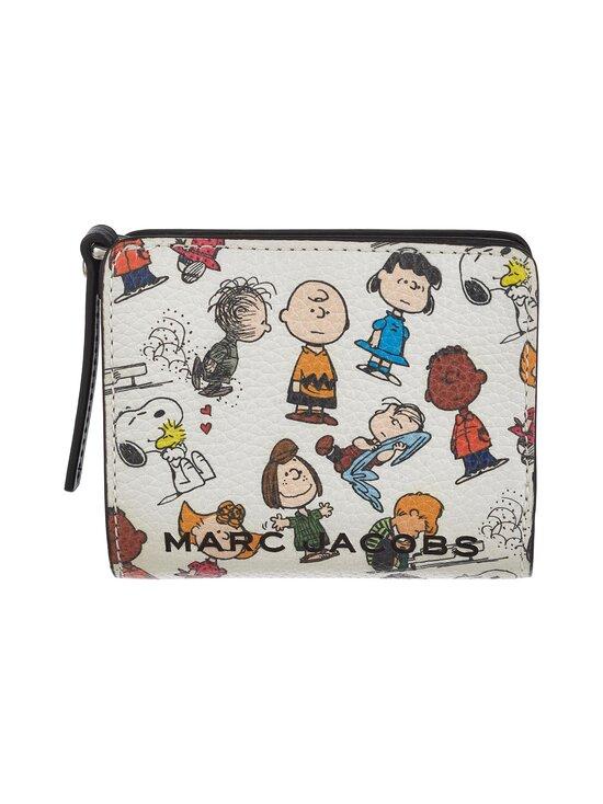 Marc Jacobs - Peanuts® x Marc Jacobs Mini Compact Wallet -nahkalompakko - WHITE MULTI 101   Stockmann - photo 1