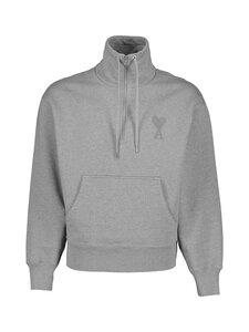 Ami - Ami De Coeur High Zipped Collar Sweatshirt -collegepaita - HEATHER GREY/055 | Stockmann