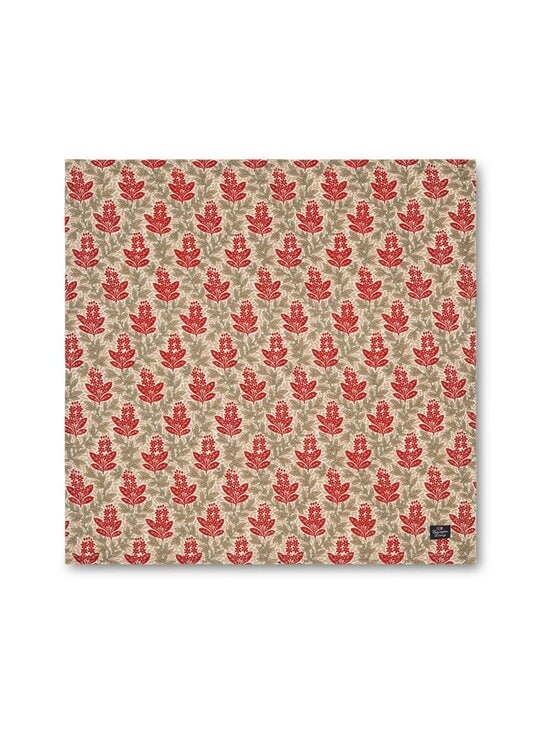 Lexington - Printed Cotton Twill -lautasliina 50 x 50 cm - RED MULTI | Stockmann - photo 1