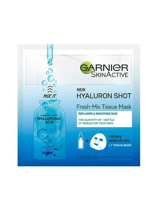 Garnier - Fresh-Mix Tissue Mask Replumping Shot With Hyaluronic Acid kangasnaamio 33 g - NOCOL | Stockmann - photo 1