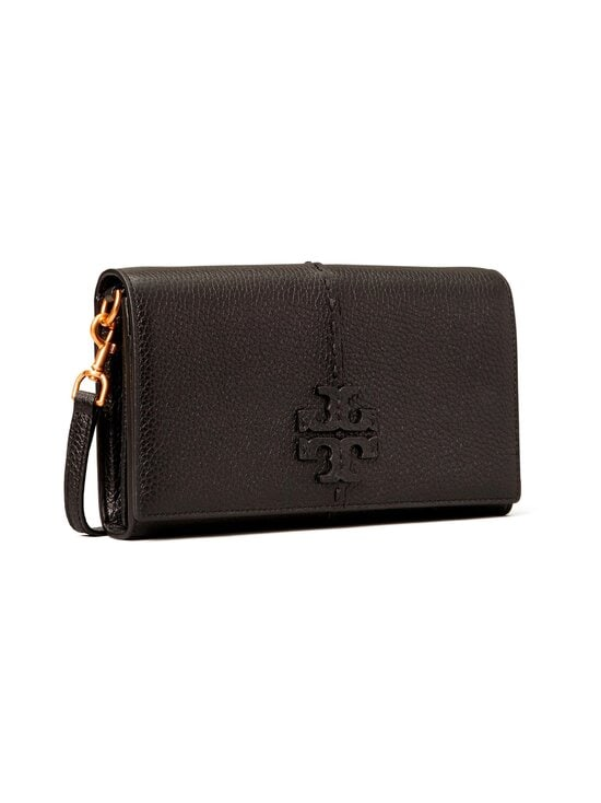 Tory Burch - McGraw Wallet Crossbody -nahkalaukku - 001 BLACK | Stockmann - photo 2