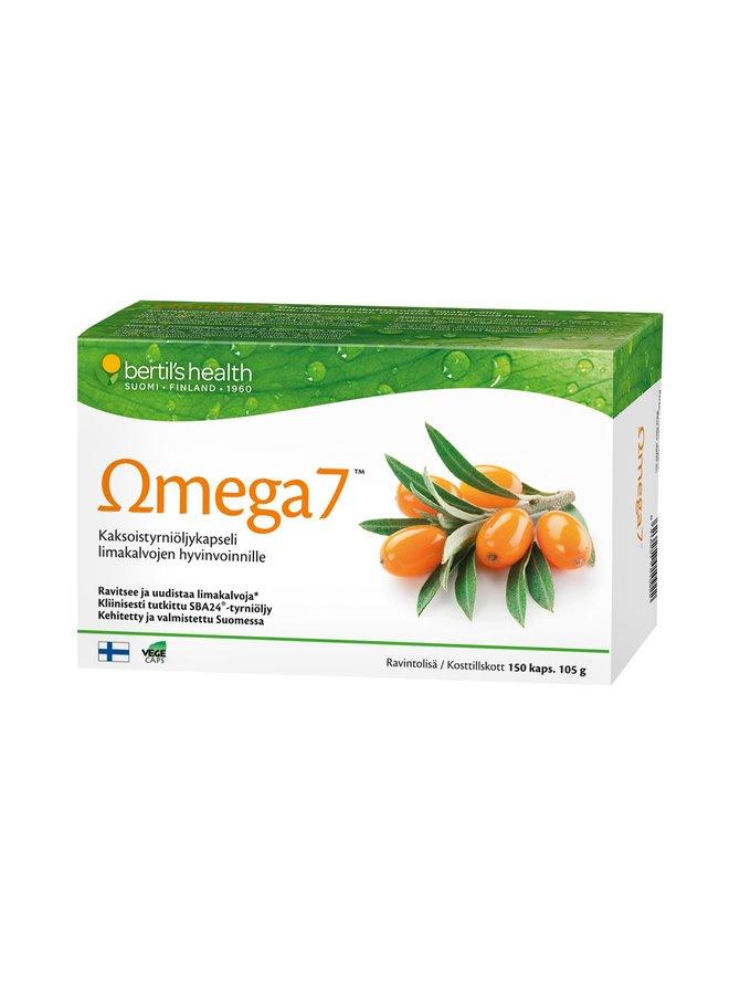 Omega 7 -kaksoistyrniöljykapselit 150 kaps./105 g