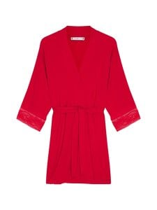 Tommy Hilfiger - Kimono Robe Lace -aamutakki - XLG PRIMARY RED | Stockmann