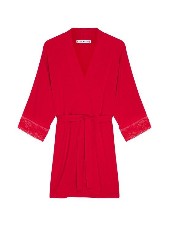 Tommy Hilfiger - Kimono Robe Lace -aamutakki - XLG PRIMARY RED | Stockmann - photo 1