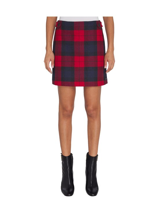 Tommy Hilfiger - Wool Cashmere Check Mini -hame - 0QP JOANNA CHK / PRIMARY RED   Stockmann - photo 3
