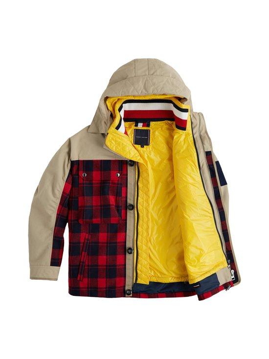 3-in-1 Plaid Check Jacket -takki