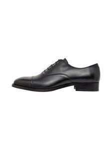 J.Lindeberg - Hopper Leather Oxford -nahkakengät - 9999 BLACK | Stockmann