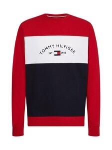 Tommy Hilfiger - Embroidered Signature Crewneck -collegepaita - 0EV RED / MULTI   Stockmann