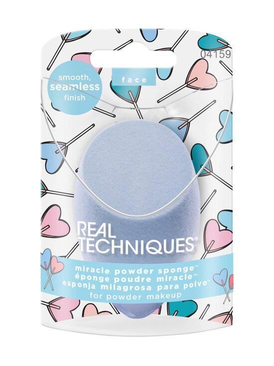 Real Techniques - Love IRL Miracle Powder Sponge -meikkisieni - LIGHT BLUE   Stockmann - photo 2