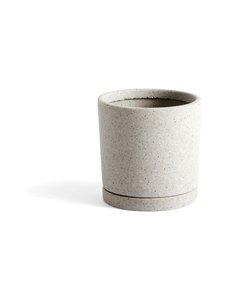 HAY - Plant Pot -ruukku ja aluslautanen M ø 14 cm - GREY | Stockmann
