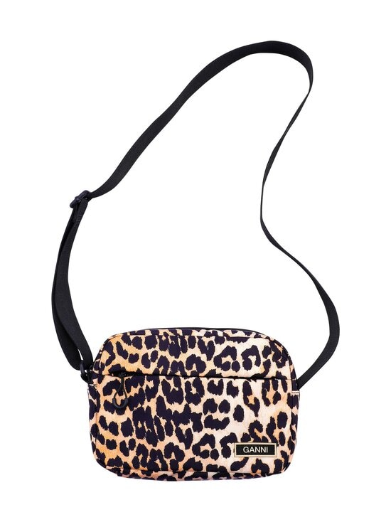 Ganni - Recycled Tech Fabric Bags Festival Bag -laukku - LEOPARD | Stockmann - photo 1