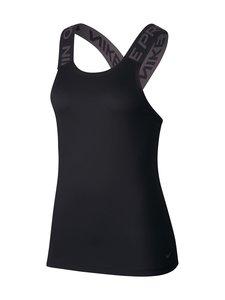 Nike - W Dry Elastika -treenitoppi - BLACK/BLACK/THUNDER GREY | Stockmann