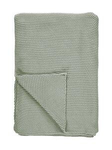 Marc O'Polo Home - Nordic Knit Plaid -huopa 130 x 170 cm - GARDEN GREEN | Stockmann
