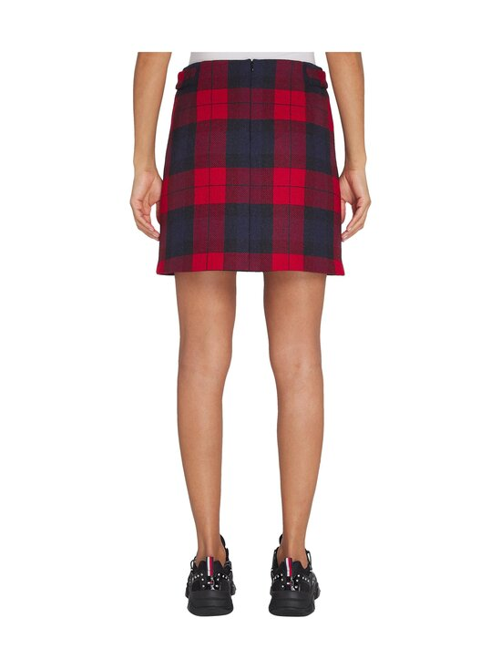 Tommy Hilfiger - Wool Cashmere Check Mini -hame - 0QP JOANNA CHK / PRIMARY RED   Stockmann - photo 2
