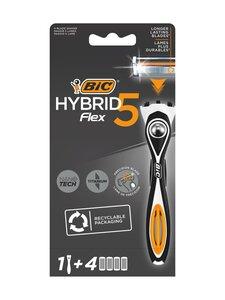 Bic - Hybrid Flex 5 Razor -partahöylä ja vaihtoterät 4 kpl | Stockmann