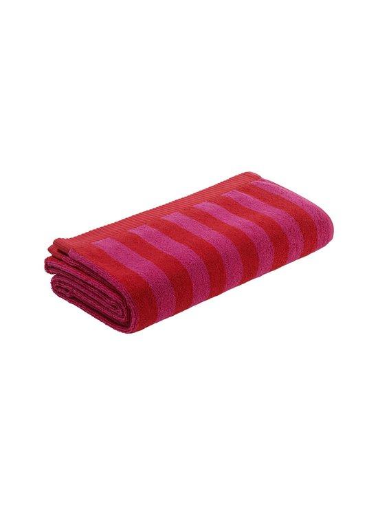 Kaksi raitaa -pyyhe
