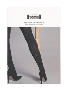 Wolford - Logo Script Crystal 60 den -sukkahousut - 8142 BLACK/HEMATITE | Stockmann