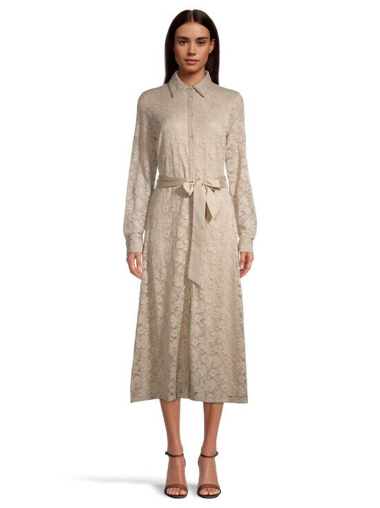 NA-KD - Lace Midi Shirt Dress -mekko - BEIGE | Stockmann - photo 2