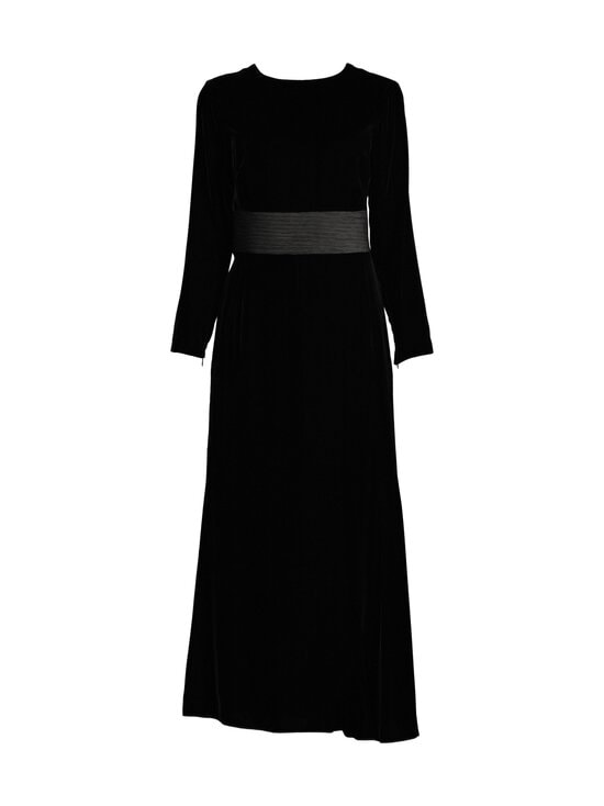 Emporio Armani - Velvet Long Dress -mekko - 0999 BLACK | Stockmann - photo 1