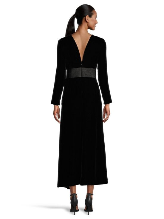 Emporio Armani - Velvet Long Dress -mekko - 0999 BLACK | Stockmann - photo 3