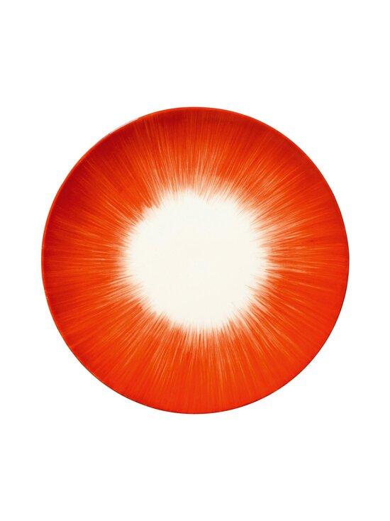 Serax - Dé Tableware by Ann Demeulemeester -lautanen 17,5 cm - OFF-WHITE/RED   Stockmann - photo 1