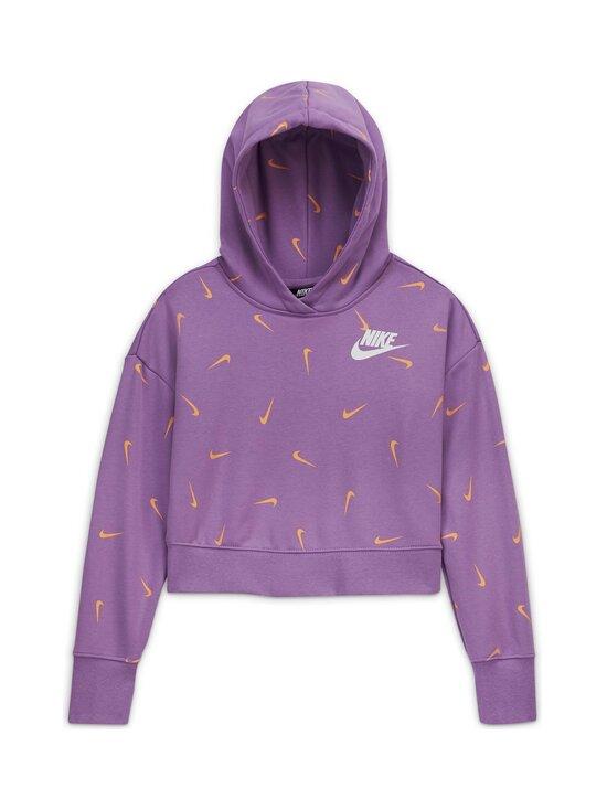 Nike - Cropped Pullover Hoodie -huppari - VIOLET STAR/ORANGE CHALK/WHITE | Stockmann - photo 1