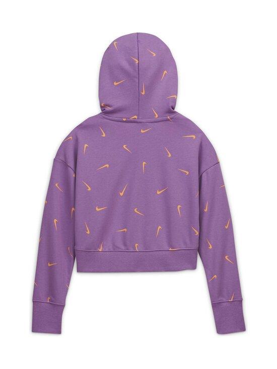 Nike - Cropped Pullover Hoodie -huppari - VIOLET STAR/ORANGE CHALK/WHITE | Stockmann - photo 2