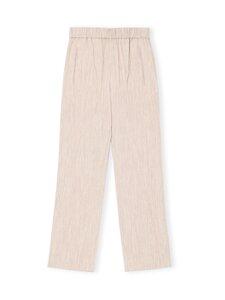 Ganni - Melange Suiting Trousers -housut - TANNIN 185   Stockmann