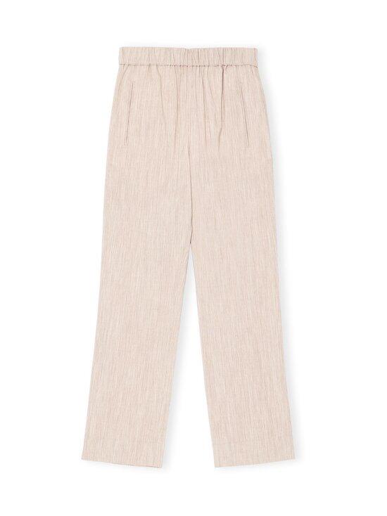 Ganni - Melange Suiting Trousers -housut - TANNIN 185 | Stockmann - photo 1