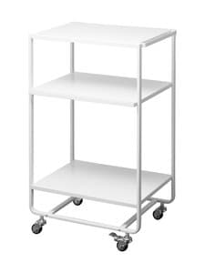 Yamazaki - Tower Three-Tier Rolling Server Cart -tarjoiluvaunu 38 x 49 x 81,5 cm - WHITE | Stockmann