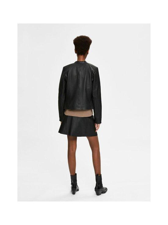 Selected - SlfIBi Leather Jacket -nahkatakki - BLACK | Stockmann - photo 2