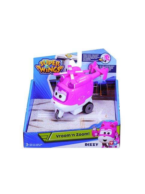 Super Wings Vroom & Zoom! Peruuttamalla viritettävä lennokki Dizzy 8 cm