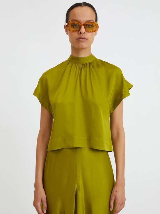 Rodebjer - Lau Satin Blouse -pusero - SUNNY LIME | Stockmann - photo 3