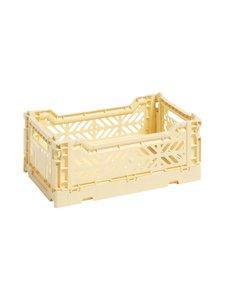HAY - Colour Crate S -laatikko 26,5 x 17 x 10,5 cm - LIGHT YELLOW | Stockmann