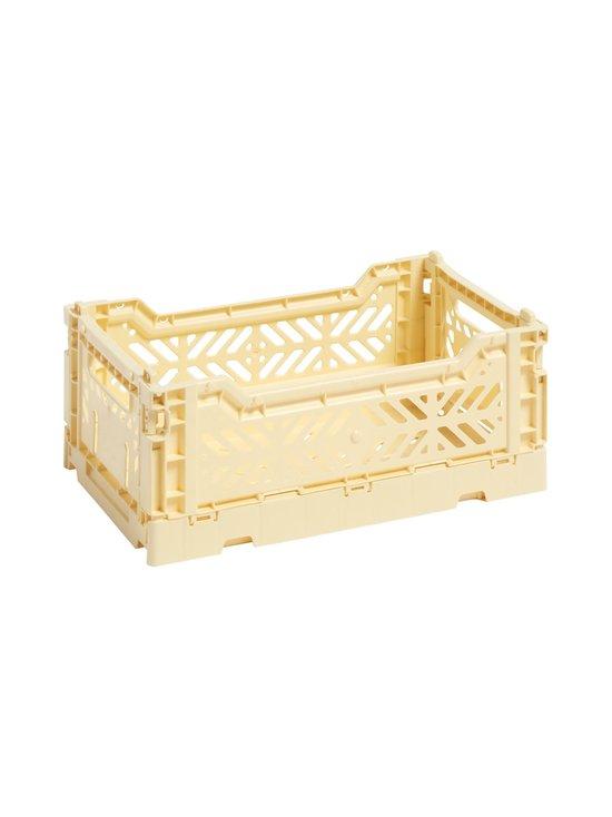 HAY - Colour Crate S -laatikko 26,5 x 17 x 10,5 cm - LIGHT YELLOW   Stockmann - photo 1
