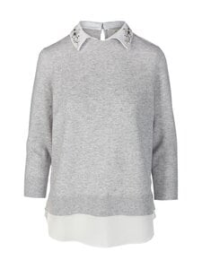 Ted Baker London - Janiiss Open Collar Mockable Sweater -neule - 05 GREY MARL | Stockmann