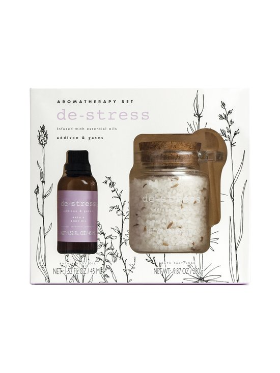 De-stress Aromatherapy Soak Gift Set Lavender, Chamomile & Lemongrass -kylpypakkaus