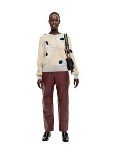 Marimekko - Helmioksa Unikko Knitted Pullover -neule - 229 BEIGE, LIGHT YELLOW, BLACK | Stockmann