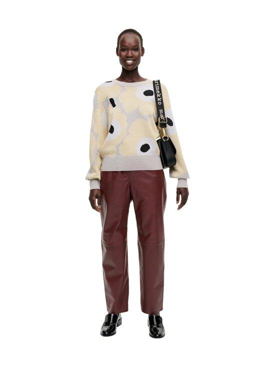 Marimekko - Helmioksa Unikko Knitted Pullover -neule - 229 BEIGE, LIGHT YELLOW, BLACK   Stockmann - photo 1