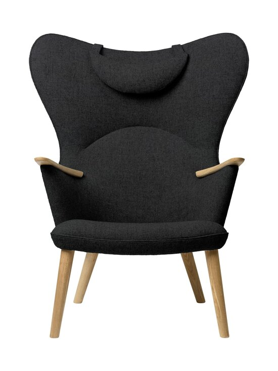 Carl Hansen&Son - CH78 Mama Bear -nojatuoli + niskatyyny - 191 DARK GREY FIORD | Stockmann - photo 1