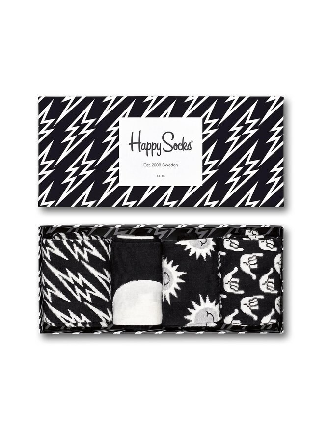 Black And White Gift Box -sukat 4-pack