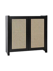 Lundia - Classic-kaappi 32 x 79 x 84 cm - BLACK LACQUERED PINE / RATTAN | Stockmann