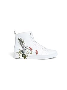 Ted Baker London - Zerel Highland Hi-Top Trainer -nahkatennarit - WHITE | Stockmann